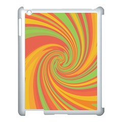 Green And Orange Twist Apple Ipad 3/4 Case (white) by Valentinaart