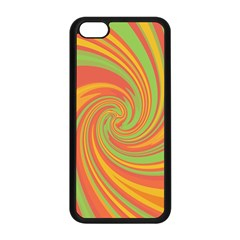 Green And Orange Twist Apple Iphone 5c Seamless Case (black) by Valentinaart