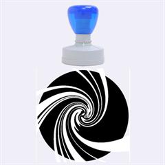 Decorative Twist Rubber Round Stamps (large) by Valentinaart