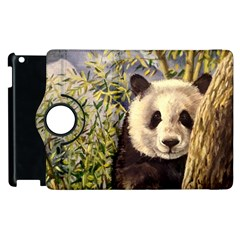 Panda Apple Ipad 3/4 Flip 360 Case by ArtByThree