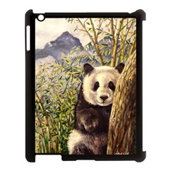 Panda Apple Ipad 3/4 Case (black) by ArtByThree