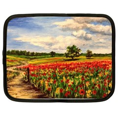 Poppies Netbook Case (XL)  by ArtByThree