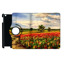 Poppies Apple Ipad 3/4 Flip 360 Case by ArtByThree