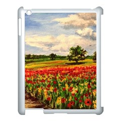 Poppies Apple Ipad 3/4 Case (white) by ArtByThree