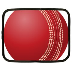 Cricket Ball Netbook Case (Large) by Zeze