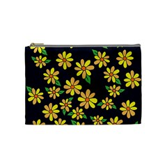 Daisy Flower Pattern For Summer Cosmetic Bag (medium)  by BubbSnugg