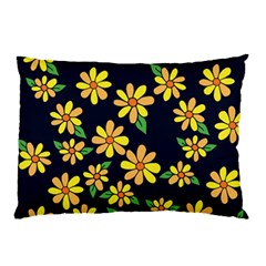 Daisy Flower Pattern For Summer Pillow Case (two Sides) by BubbSnugg