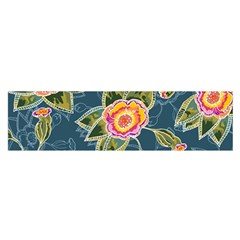 Floral Fantsy Pattern Satin Scarf (oblong) by DanaeStudio