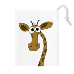 Giraffe  Drawstring Pouches (extra Large) by Valentinaart