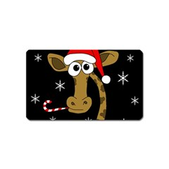 Christmas Giraffe Magnet (name Card) by Valentinaart