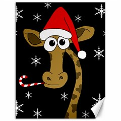 Christmas Giraffe Canvas 12  X 16   by Valentinaart