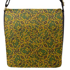 Modern Abstract Ornate Pattern Flap Messenger Bag (s) by dflcprints