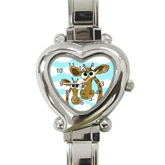 Just The Two Of Us Heart Italian Charm Watch by Valentinaart