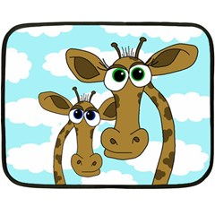 Just The Two Of Us Fleece Blanket (mini) by Valentinaart