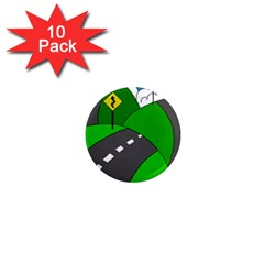 Hit The Road 1  Mini Magnet (10 Pack)  by Valentinaart