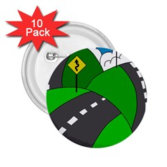 Hit The Road 2 25  Buttons (10 Pack)  by Valentinaart
