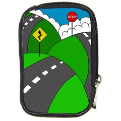 Hit The Road Compact Camera Cases by Valentinaart