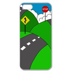 Hit The Road Apple Seamless Iphone 5 Case (clear) by Valentinaart