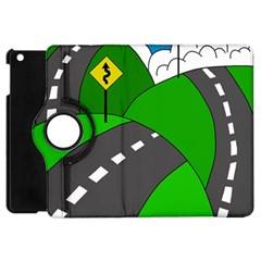 Hit The Road Apple Ipad Mini Flip 360 Case by Valentinaart