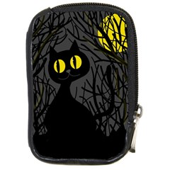 Black Cat   Halloween Compact Camera Cases by Valentinaart