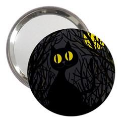 Black Cat   Halloween 3  Handbag Mirrors by Valentinaart