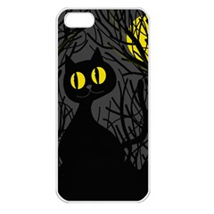 Black Cat   Halloween Apple Iphone 5 Seamless Case (white) by Valentinaart