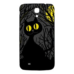 Black Cat   Halloween Samsung Galaxy Mega I9200 Hardshell Back Case by Valentinaart
