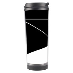 Black And White Travel Tumbler by Valentinaart