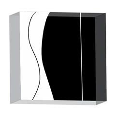 White and black 2 5  x 5  Acrylic Photo Blocks by Valentinaart