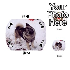 Norwegian Elkhound Full second Playing Cards 54 (Round)  by TailWags