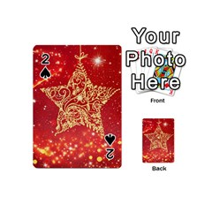 Background Star Playing Cards 54 (Mini)  by Zeze