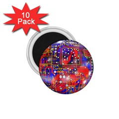 Board Ball About Head Board 1.75  Magnets (10 pack)  by Zeze