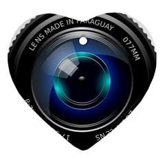 Camera Lens Prime Lens Photography Heart Ornament (2 Sides) by Zeze