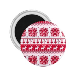 Christmas Pattern 2.25  Magnets by Zeze