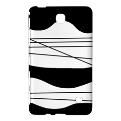 White and black waves Samsung Galaxy Tab 4 (7 ) Hardshell Case  by Valentinaart