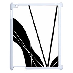 White And Black  Apple Ipad 2 Case (white) by Valentinaart