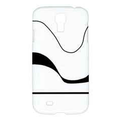 Waves   Black And White Samsung Galaxy S4 I9500/i9505 Hardshell Case by Valentinaart