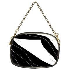 White And Black Decorative Design Chain Purses (two Sides)  by Valentinaart