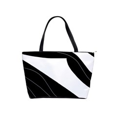 White And Black Decorative Design Shoulder Handbags by Valentinaart