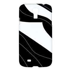 White And Black Decorative Design Samsung Galaxy S4 I9500/i9505 Hardshell Case by Valentinaart