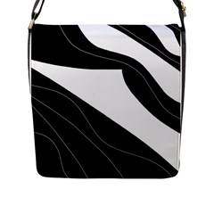 White And Black Decorative Design Flap Messenger Bag (l)  by Valentinaart