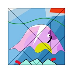 Under The Sea Acrylic Tangram Puzzle (6  X 6 ) by Valentinaart