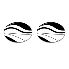 White And Black Harmony Cufflinks (oval) by Valentinaart