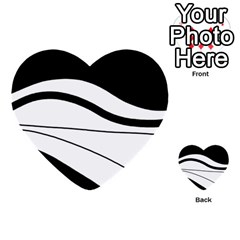 White And Black Harmony Multi Purpose Cards (heart)  by Valentinaart