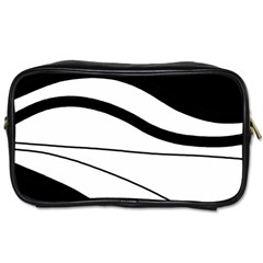 White And Black Harmony Toiletries Bags 2 Side by Valentinaart