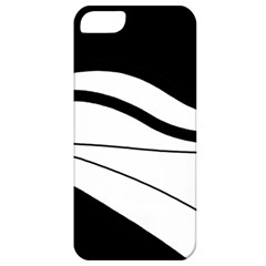 White And Black Harmony Apple Iphone 5 Classic Hardshell Case by Valentinaart