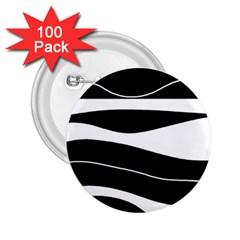 Black Light 2 25  Buttons (100 Pack)  by Valentinaart