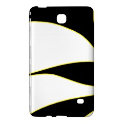 Yellow, black and white Samsung Galaxy Tab 4 (7 ) Hardshell Case  by Valentinaart