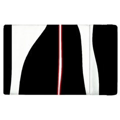 White, Red And Black Apple Ipad 3/4 Flip Case by Valentinaart