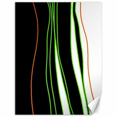 Colorful Lines Harmony Canvas 18  X 24   by Valentinaart